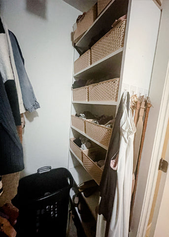 Closet Cleanout Before