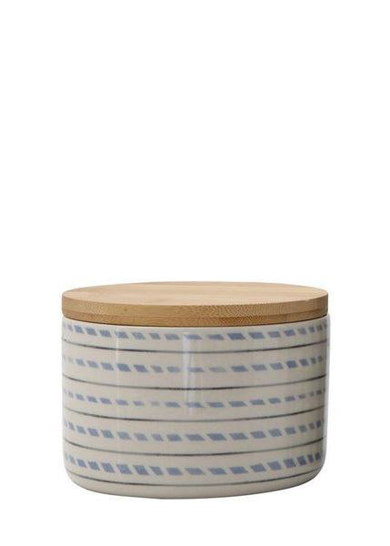 Stoneware Bamboo Dash Canister