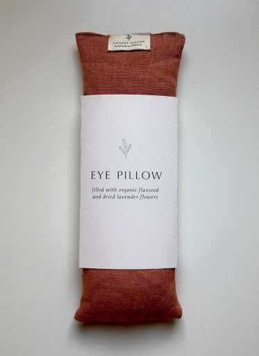 Tangerine Handmade Linen Eye Pillow