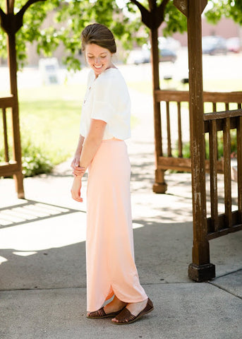 Kelly Drawstring Maxi Skirt