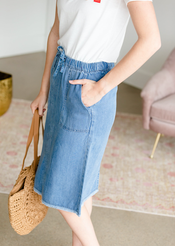 The Classic Denim Skirt