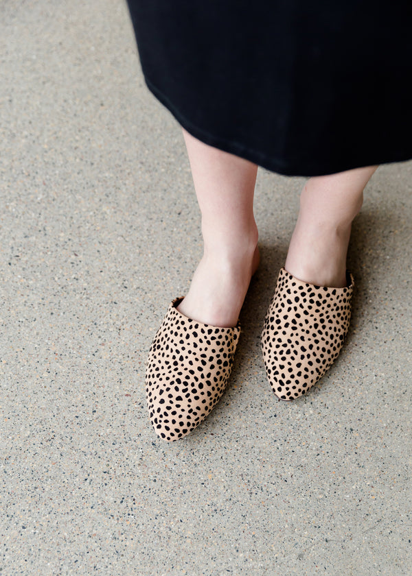 Inherit Co.  | Women's New Arrivals | Pointed Toe Cheetah Mules
