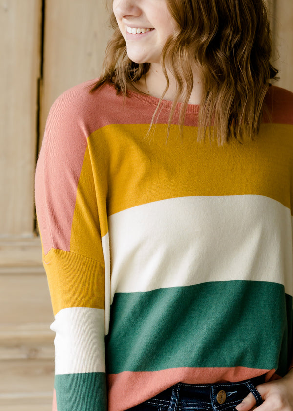 Inherit Co.  | Women's New Arrivals | Oversized Striped Soft Sweater