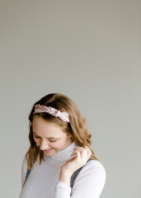 Inherit Co.  | Pink Stripe Knotted Headband
