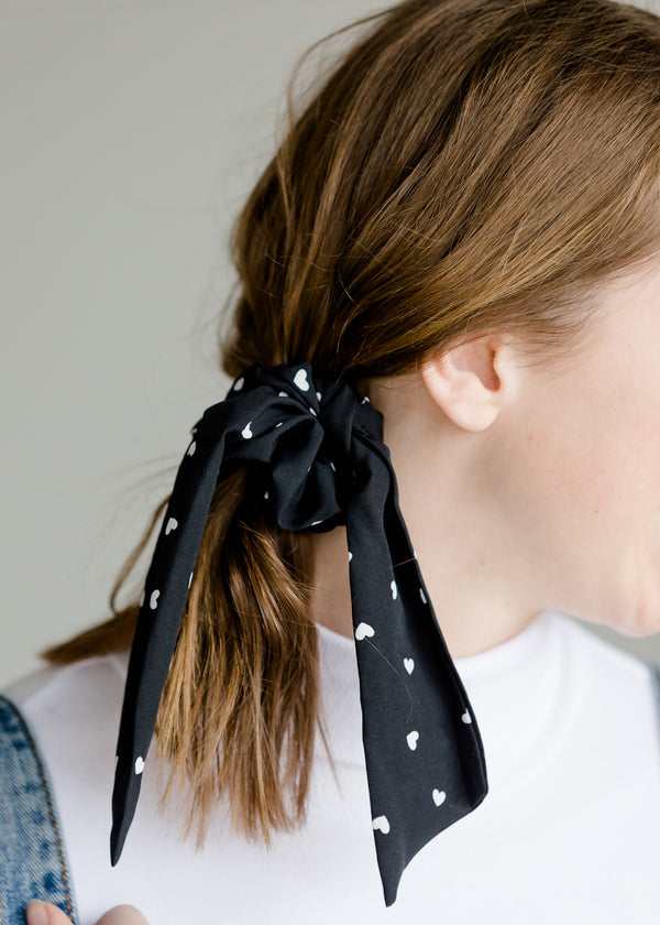 Inherit Co.  | Women's New Arrivals | Heart Print Scrunchie