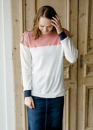 Waffle Knit Colorblock Top - FINAL SALE