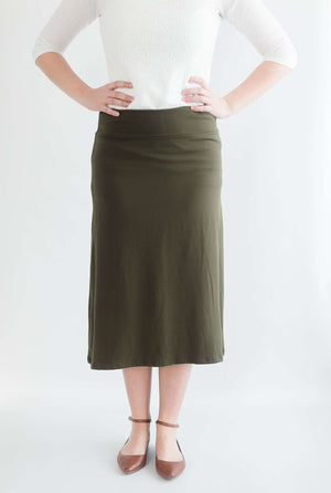 Emily Ultra Soft Below The Knee Length Knit Skirt