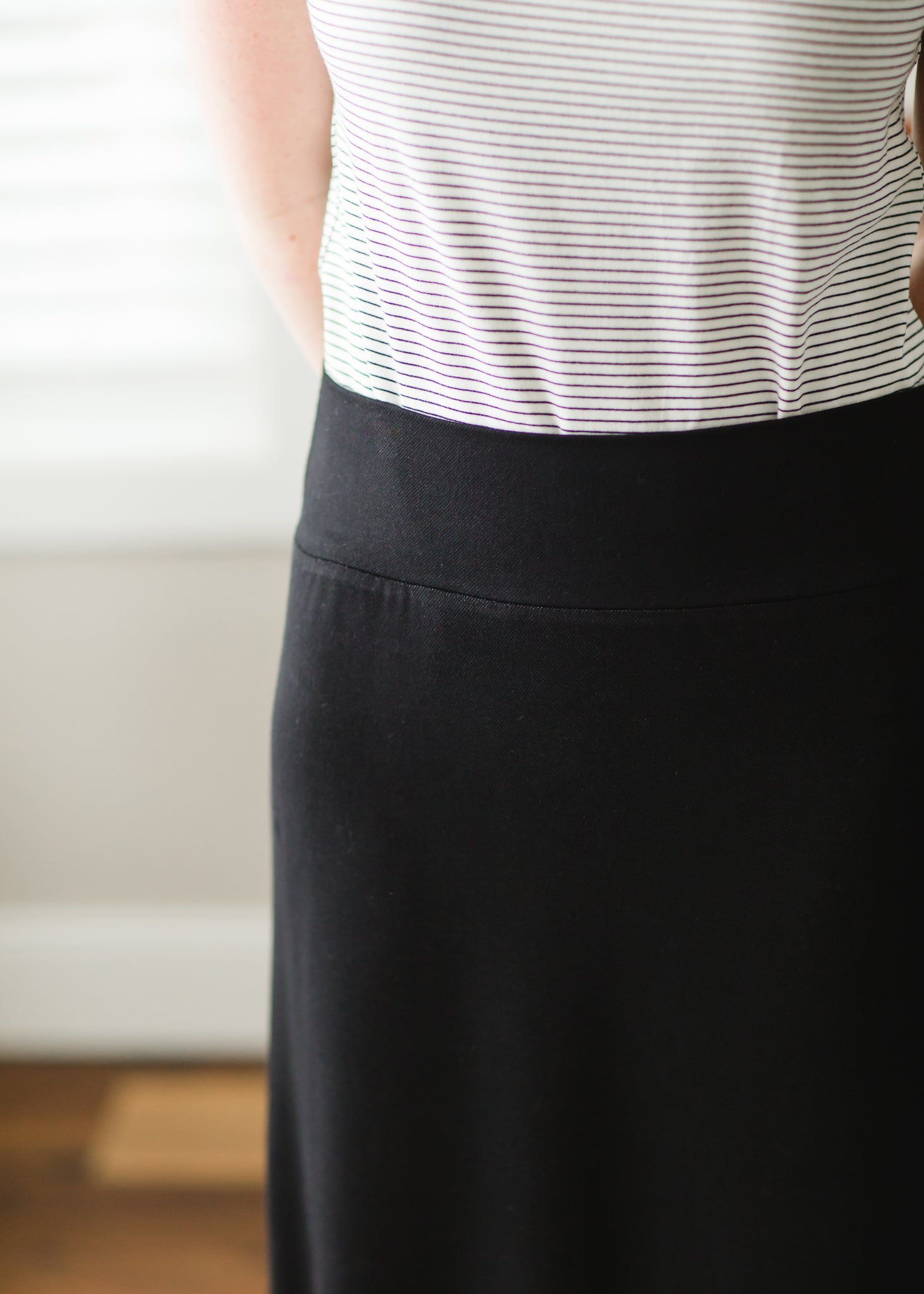Angie Black Maxi Knit Skirt