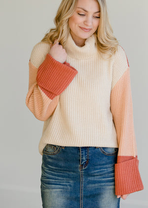 Multi Color Turtleneck Sweater - FINAL SALE