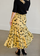 Flowy Stretch Floral Midi Skirt - FINAL SALE