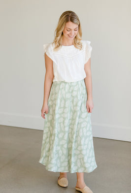 Inherit Co.  | Modest Women's Skirts | Olive Tiered Maxi Skirt |