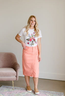 Inherit Co.  | The Fashionista | Stella Jade Colored Denim Skirt - FINAL SALE |