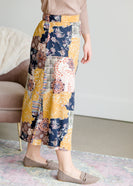 Patch Print Flowy Midi Skirt - FINAL SALE
