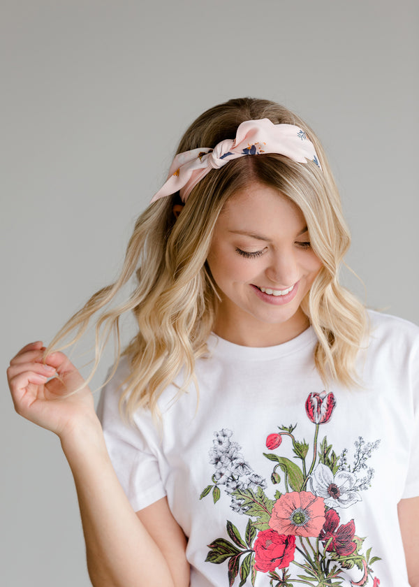 Inherit Co.  | Women's Accessories | Blush Floral Skinny Bandana