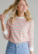 Inherit Co.  | Striped 3/4 Sleeve Casual Top