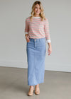 Double Button Straight Denim Skirt - FINAL SALE