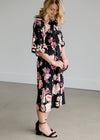 Bell Sleeve Floral Midi Dress - FINAL SALE