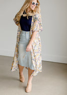Tiered Drawstring Waist Kimono - FINAL SALE