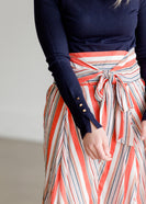 High Waist Hankerchief Hem Midi Skirt - FINAL SALE