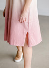 Short Sleeve Dip Dye Pink Midi Dress - FINAL SALE