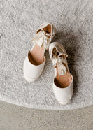 Espadrille Lace Up Wedge - FINAL SALE