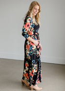 Self Tie Floral Maxi Dress - FINAL SALE