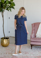 Inherit Co.  | Short Sleeve Stretch Midi Dress
