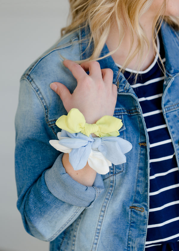 Inherit Co.  | Multi Color Bow Hair Scrunchie