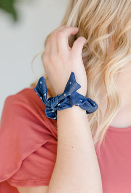 Inherit Co.  | Girls Modest Clothing | Teal + Pink Geometric Knotted Headband |