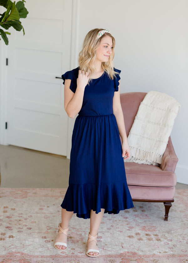 Inherit Co.  | Ruffle Hem Midi Dress