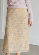 Yellow Floral Midi Skirt - FINAL SALE