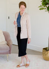 Blush Cargo Zip Up Jacket - FINAL SALE