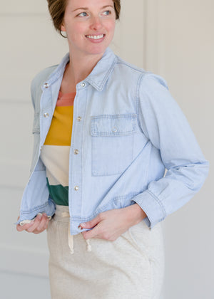 Snap Button Denim Jean Jacket - FINAL SALE