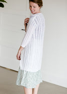 White Long Textured Cardigan - FINAL SALE