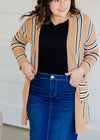 Striped Long Sleeve Cardigan - FINAL SALE