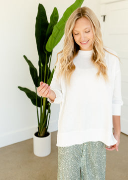 Ivory Relaxed Fit Knit Top