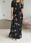 Betsy Striped Floral Maxi Dress - FINAL SALE