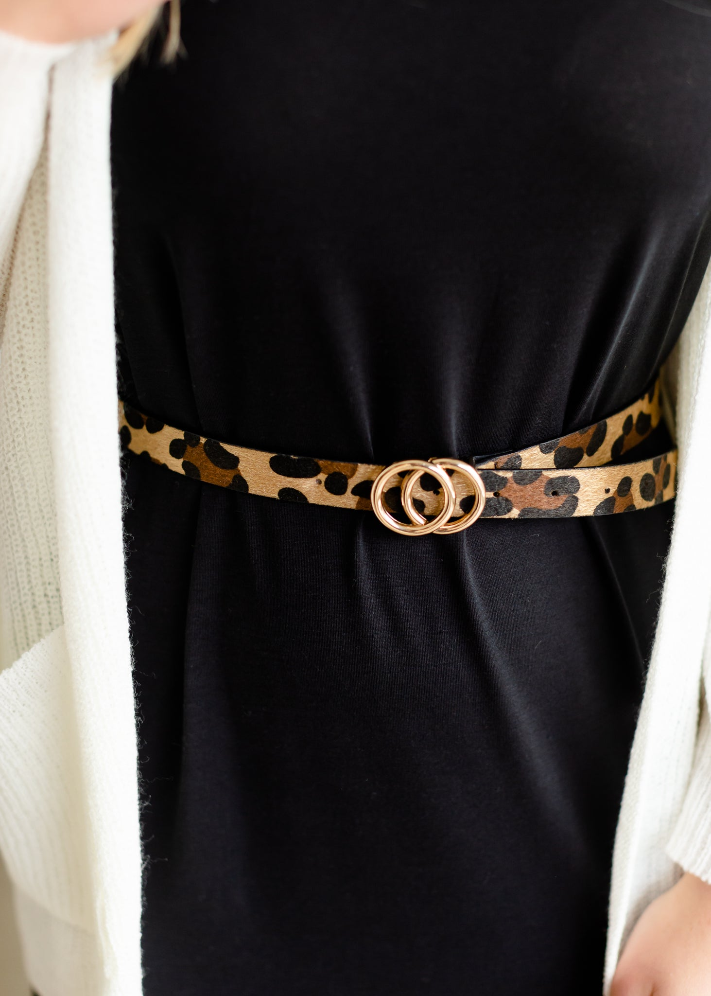 Cheetah Print Detailed Belt