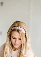 Satin Mini Rose Knotted Headband