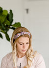 Satin Multi Print Knotted Headband