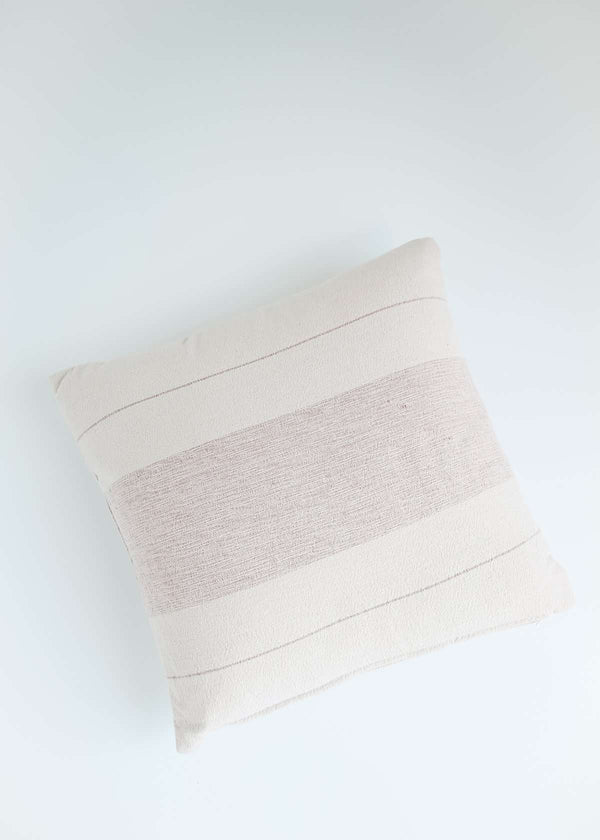 Inherit Co.  | Home + Lifestyle | Cotton Woven Striped Pillow | blush striped cotton pillow