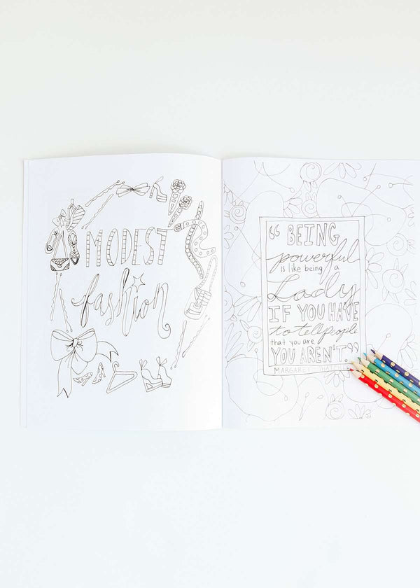 Inherit Co.  | Modest Fashion Coloring Book | Color me modest coloring book