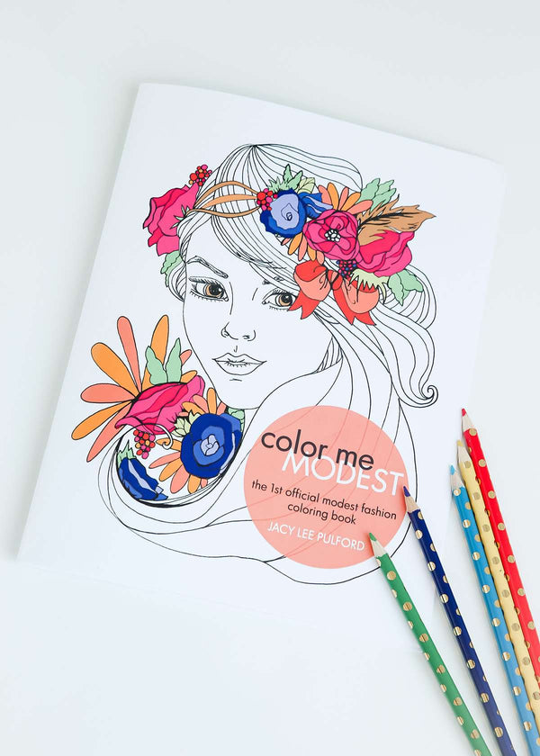 Color me modest coloring book