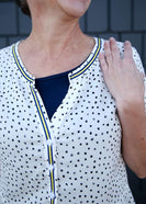 women's polka dot peplum top