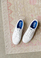 Keds White Center Leather Sneakers