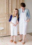 White Twill Overall Skirt - FINAL SALE