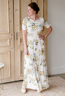 Inherit Co.  | Inherit Exclusives | Betsy Striped Floral Maxi Dress |