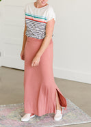 Stretchy Mauve Long Maxi Skirt - FINAL SALE