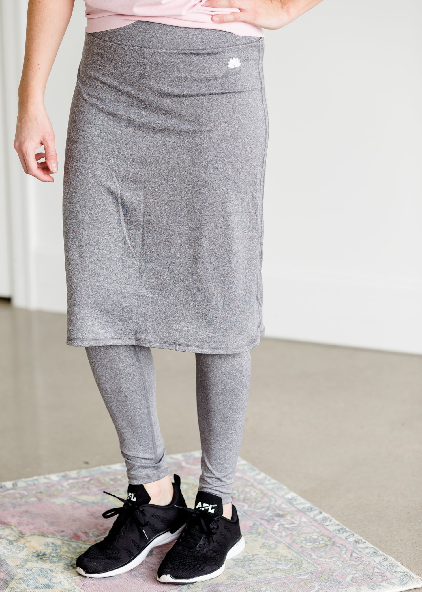 Snoga Long Shirttail Heather Gray Sport Skirt - FINAL SALE