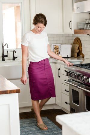 Remi Plum Midi Skirt - FINAL SALE